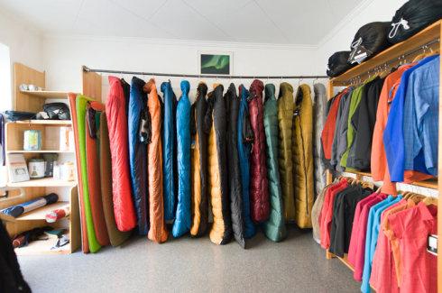 Eine große Auswahl an Schlafsäcken